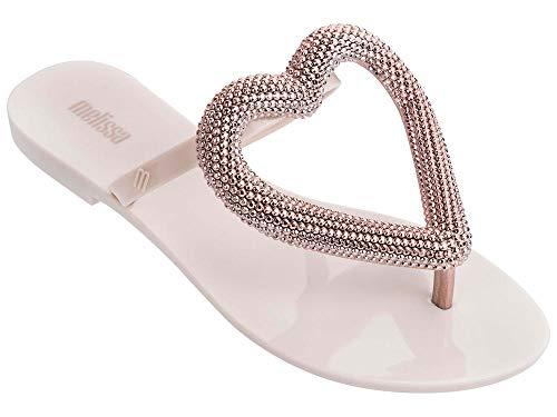 melissa großes Herz Chrom erröten Flip-Flops 37 Pink Fabric