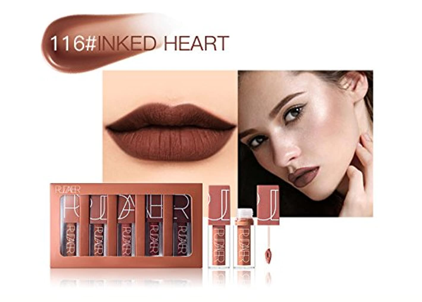 ドット走る連合No #115 Hot Brand Long Lasting Velvet Lips Tint Liquid Lipstick Matte Beauty Cosmetics Sexy Nude Pigment Matte Lip Gloss Tattoo Makeup