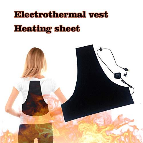 Verwarmingskussen voor kleding, warmtekussen, intelligente veiligheid, elektrische verwarming vest voor mannen, met 5 V USB-oplader, wasbaar, 3 modi