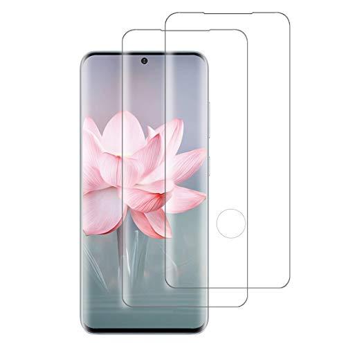 XSWO Cristal Templado Galaxy S20 Ultra [2 Piezas], Protector de Pantalla Samsung Galaxy S20 Ultra (5G 6.9'), [3D Cobertura Completa] [Fácil Instalar] [9H Dureza] [Sin Burbujas] Vidrio Templado
