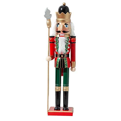 KiGoing Nussknacker Deko Figur aus Holz,Weihnachten Holzpuppe Dekoration Nussknacker Soldat Schmuck 38/50CM Weihnachten Kalender Nussknacker