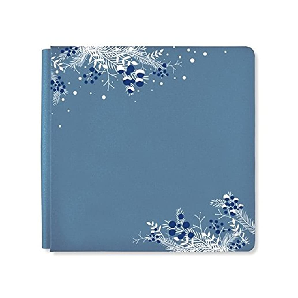 12x12 Steel Blue Shimmer Glacier Album Cover by Creative Memories