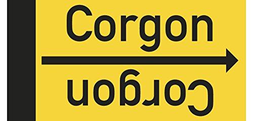 LEMAX® Rohrleitungsband Corgon, DIN 2403, ab Ø 15mm, gelb/schwarz, 33m/Rolle