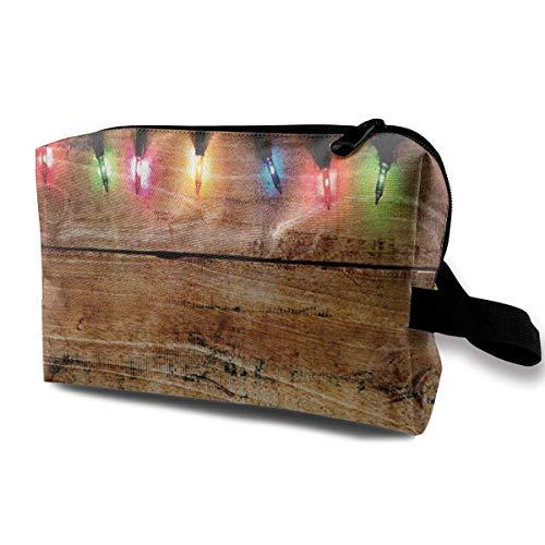 Hdadwy Bunte Weihnachtsbeleuchtung Tragbare Reise Kosmetiktaschen Make-up Organizer Taschen Große Kapazität Toilettenartikel Organizer Fälle Reisetasche Geldbörse