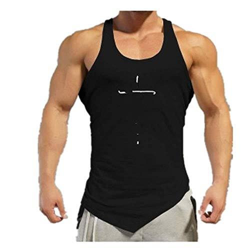 Gimnasio Tank Top Hombres Carta Impresión Camisa Fitness Ropa Para Hombre Verano Deportes Casual Slim Graphic Camisas Chaleco