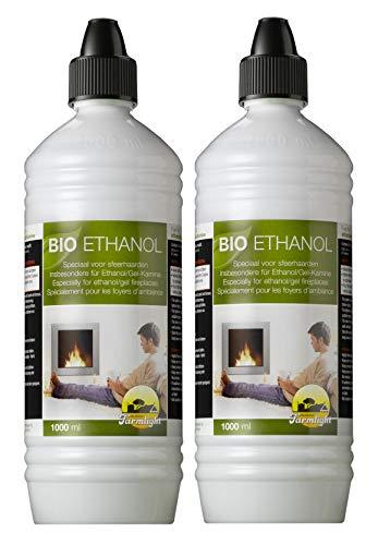 Moritz 2 Liter Bio Ethanol > 95% - 96,6% Premium für Ethanolkamine Gelkamine Bambusfackeln Rückstands lose Verbrennung aus nachwachsenden Rohstoffen