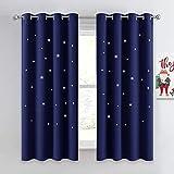 NICETOWN Kids Curtains, Navy Blue Romantic Star Curtains...