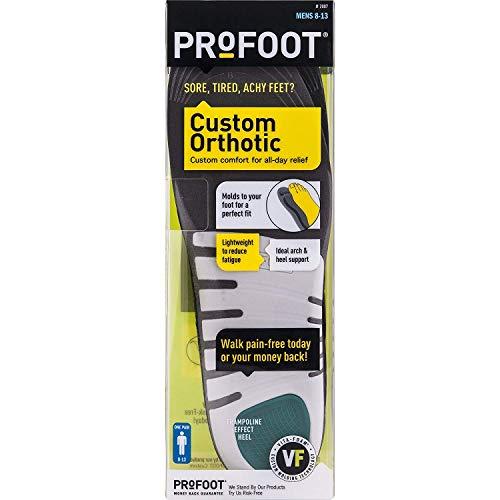Profoot Custom Orthotic Plantilla personalizada con Vita-Foam, para Hombre, Tamaño 8-13, 1 par