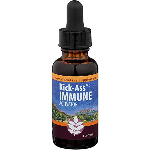 WishGarden Herbs - Kick-Ass Immune, Organic Herbal Immune Booster Promotes Healthy System Response and Resistance (1Ounce Dropper)