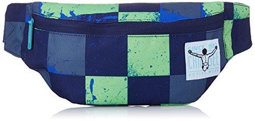 Chiemsee Unisex-Erwachsene Waistbag Kuriertasche, Grün (Swirl Checks), 10x7x39 cm