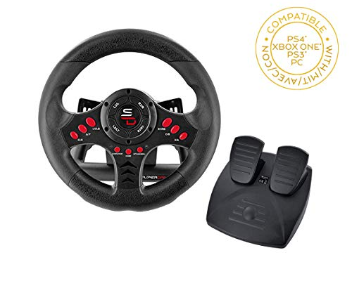 Subsonic - Volante da corsa Racing Wheel Universal con pedali per Playstation 4 - PS4 Slim - PS4 Pro - Xbox One - Xbox one S - PS3