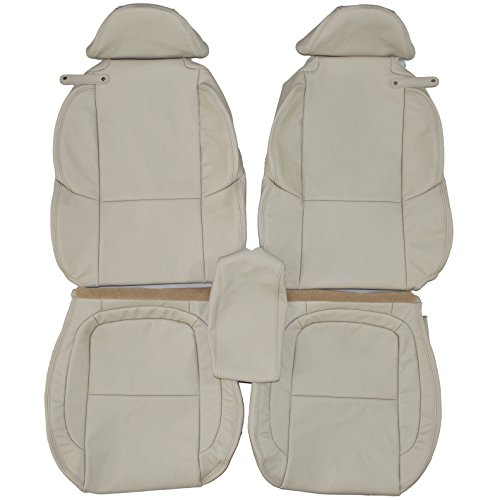 2002-2010 SC430 Genuine Leather Seats Cover Custom Made (Front) Ercu White