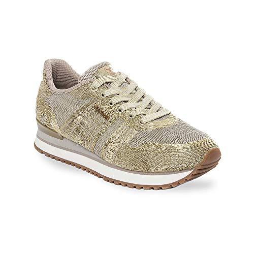 Zapatilla Sneaker Yumas VARSOVIA BEIG Fabricado en Nylon Transpirable Plantilla Confort Látex para Mujer