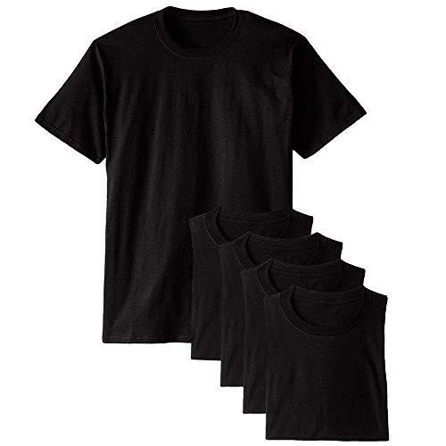 Kit com 5 Camisetas Básicas Masculina T-shirt Algodão Preto Tee (GG)
