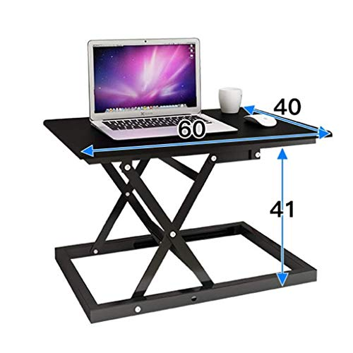 TOYS Sitz Schreibtisch Aufsatz Höhenverstellbarer Schreibtisch Workstation Sitz-Steh Schreibtisch Monitorhalterung Stehpult Computertisch Schreibtisch Computer-Arbeitsplatz Zuhause Und Büro