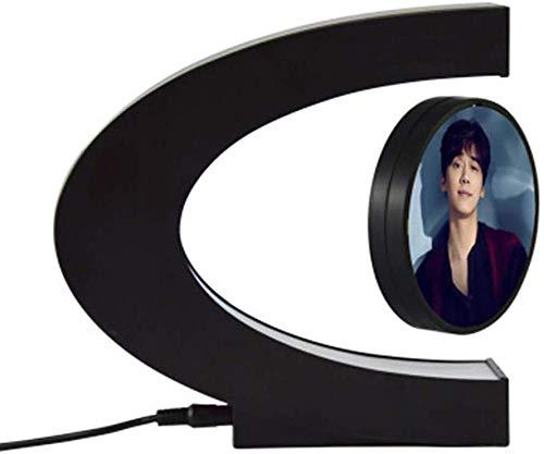 FEE-ZC Marco de Fotos Flotante de levitación magnética Ligera para decoración de Festivales con LED de Colores, decoración de Habitaciones, Noche, Escritorio de decoración de Oficina en casa