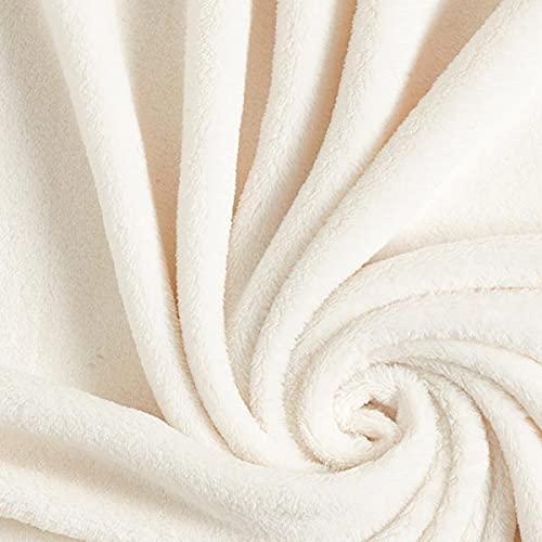 Kuschelfleece – wollweiss — Meterware ab 0,5m — zum Nähen von Decken, Tagesdecken & Nachtwäsche/Homewear