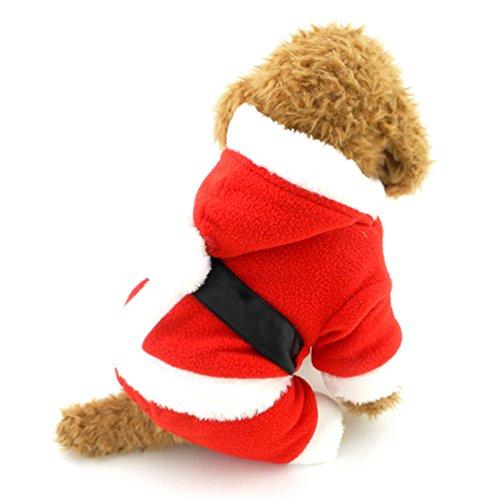 Smalllee Lucky Ranger Petit Chien Costume Père Noël en Tenue de Noël pour Chien Caniche Vêtements Boy, XL, Rouge