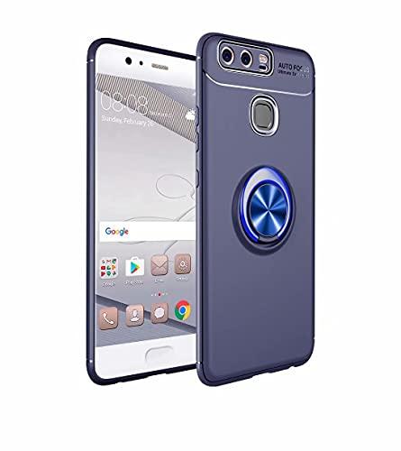 Jtailhne Compatible con Funda Huawei P9, 360° Rotaria Ring Holder Caso para...