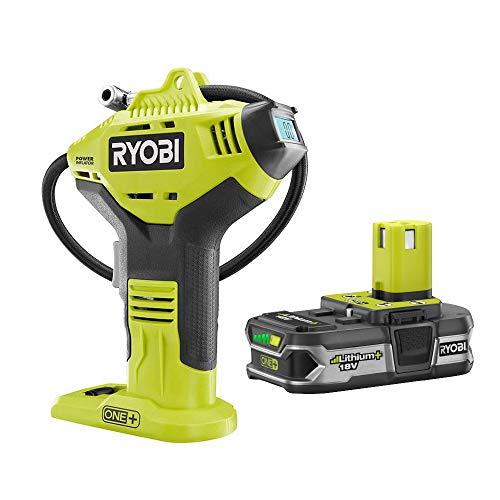 Ryobi P737D 18-Volt ONE+ Cordless High Pressure Inflator with Digital Gauge & 18-Volt ONE+ Lithium-Ion 1.5 Ah LITHIUM+ Compact Battery (Bulk Packaged)