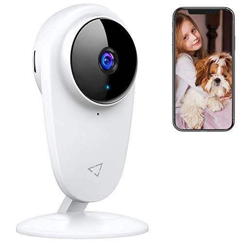 Victure Baby Monitor Pet WiFi Camera 2.4G Indoor Camera with Night Vision Motion Detection Two Way Audio for Baby/Pet/Nanny Monitor