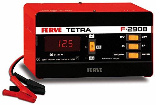 FERVE F-2908 Cargador de Baterías de Plomo Acido