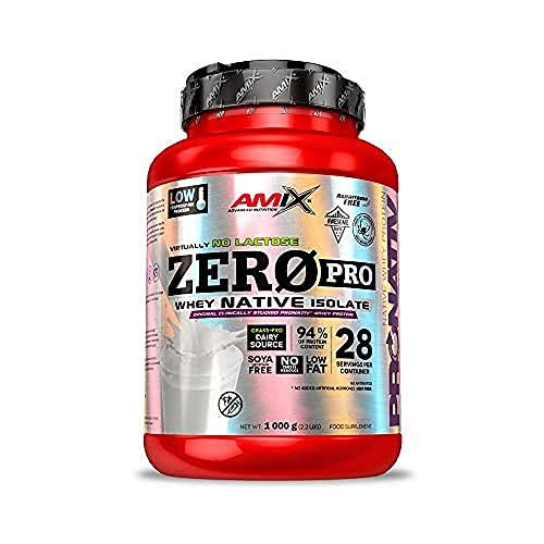 Amix - Zero Pro Protein - Suplemento Alimenticio - Mejora del Rendimiento - Contiene Aminoácidos Bcaa - Glutamina en Polvo - Nutrición Deportiva- Sabor a Cookie Crema - Bote de 1 Kg