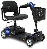 CHAIR Silla de ruedas, silla de rehabilitación médica para personas mayores, personas mayores, Pride Mobility GoGo Elite Traveler Lx 4 ruedas Scooter de movilidad Scooters eléctricos para adultos,Azu