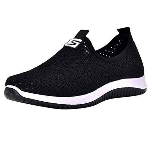 Sneaker Für Damen/Dorical Frauen Laufschuhe Sportschuhe Freizeit Sneakers Turnschuhe Breathable Mesh Leichtgewicht Athletic Schuhe Laufschuhe Bequeme Schuhe Halbschuhe Ausverkauf(Schwarz-2,39 EU)