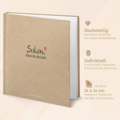 Kipitan Hochzeit-Gästebuch mit Fragen - individuell & abwechselnd: viel Freude beim ausfüllen für Gäste und schöne Erinnerung an Hochzeitsfeier