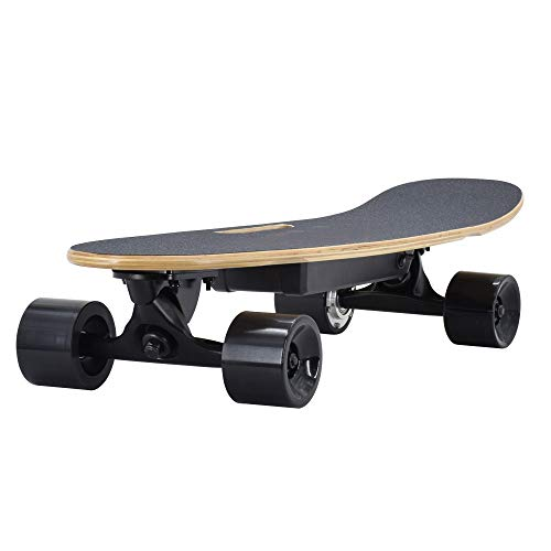 SSCYHT Elektrisches Skateboard mit Fernbedienung, 15 MPH Höchstgeschwindigkeit, 300 W Motor, 7-lagiges Maple Motorized Longboard für E-Skateboard für Erwachsene,Single Drive f