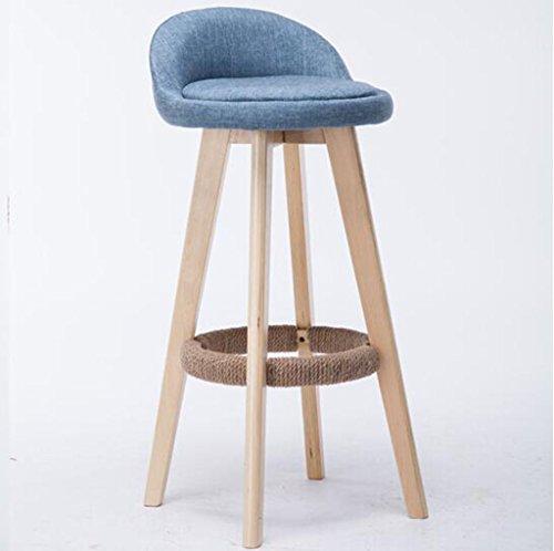 Tabouret en bois Chaise de bar en bois massif/créatif style européen bar chaise chaise de réception mode tabouret de bar tabouret simple tabouret en bois d'origine (Couleur : A8, taille : 70cm)