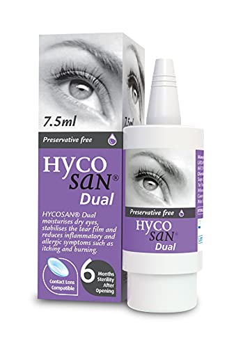 Hycosan Dual - Preservative Free Eyedrops - 0.05% Sodium Hyaluronate and 2% Ectoin- Recommended for...