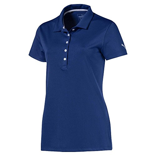 PUMA Golf Damen 2018 Pounce Poloshirt, Größe L, Sodalithblau
