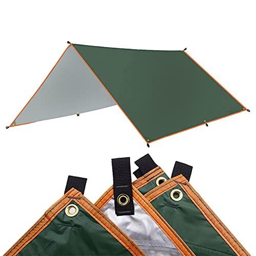 YYDMBH Tiendas domo 4 x 3 m, toldo impermeable de 3 x 3 m, toldo ultraligero para jardín, toldo para acampar al aire libre, hamaca para lluvia, mosca, playa, refugio (color: verde, tamaño: 3 x 4 m)