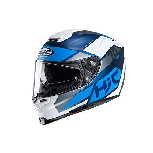 Casco moto HJC RPHA 70 DEBBY MC2SF, Bianco/Grigio/Blu, M