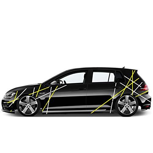 Auto Seiten Aufkleber Car-Tattoo Sticker Streifen-LININEN 1,5cm Fahrzeug Bekleben