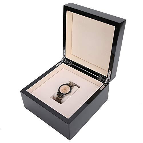 Organizador de relojes, pintura de piano duradera de madera, práctica caja de reloj de madera, para guardar joyas de los hombres