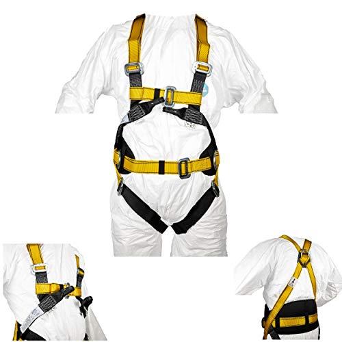 IMBRACATURA comfort ANTICADUTA 4 punti d'ancoraggio omologata CE, protezione anticaduta sospensione in aria sicurezza personale, cintura comfort, imbracatura tessile anticaduta via ferrata arrampicata