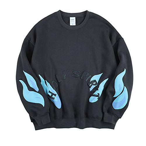 NAGRI Kanye Holy Spirit Flame Sweatshirt, Grau, L