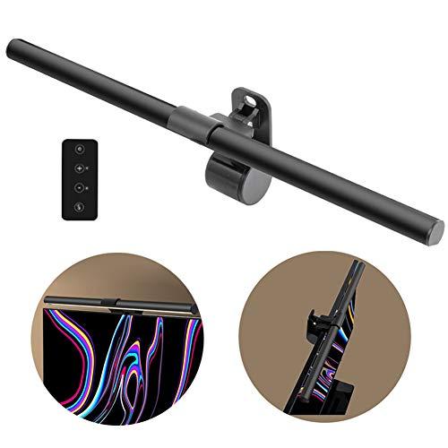 RLFDC Computerbildschirm Licht - Bildschirmhängelampe mit Fernbedienung, 9 Gänge Helligkeit und Farbtemperatur Einstellbar, Nein Glare auf dem Bildschirm, und Augenschutz