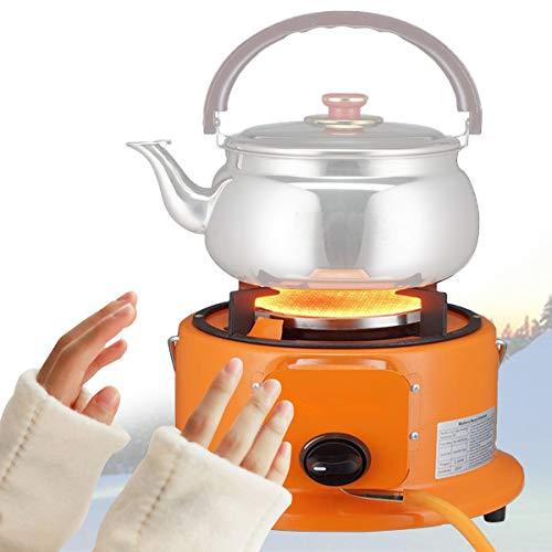 Cocina Cartucho Gas para Acampar, Mini Carpas Calefacción Estufa, Encendido Automático, Estufa Portátil con Regulador Ajustable de...