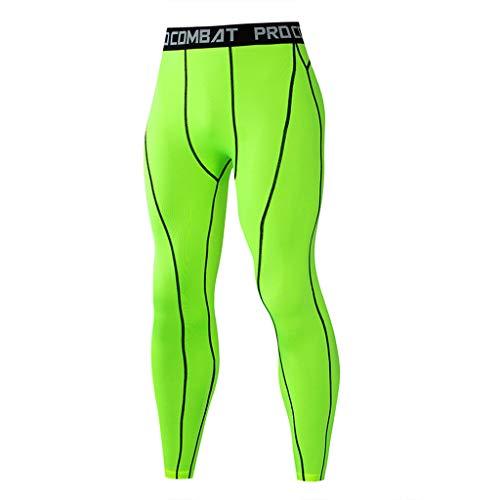 Herren Sport Yoga Bunte Neon Muster Leggings Lange Compression Yoga Pants Hose