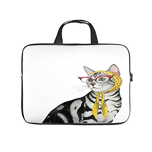 Neopreen laptop-handtas/handtas/laptophoes met puppy-motief voor MacBook laptop/ultrabooks, 10 inch, l8mv8496rooc-color32