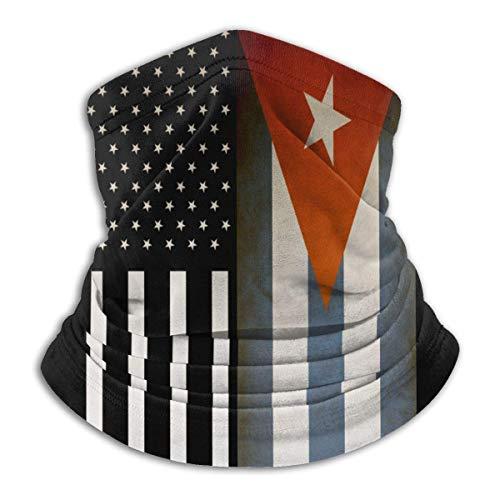 Neck Gaiter Vintage USA Cuba Flag Winter Neck Warmer Guêtre Balaclava Sports Face Hats School Ski Neck Gaiter Winter Headband Cold Weathe