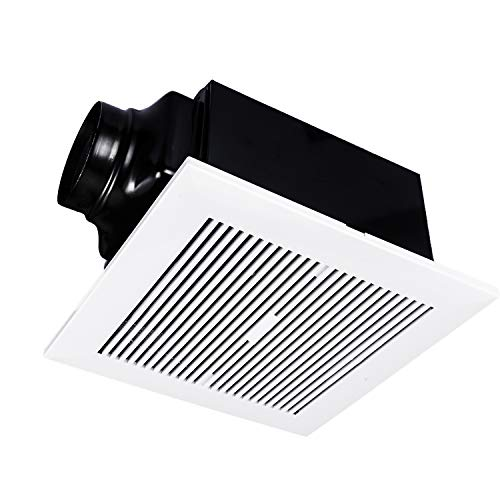 iPower Ultra-Quiet Household HVAC Ventilation Fan, For Bathroom Ceiling Mount with DC Motor, 120 CFM, White, HIFANXVENT120DCV1