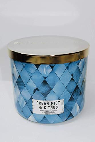White Barn Bath & Body Works 3 Wick Candle Ocean Mist & Citrus
