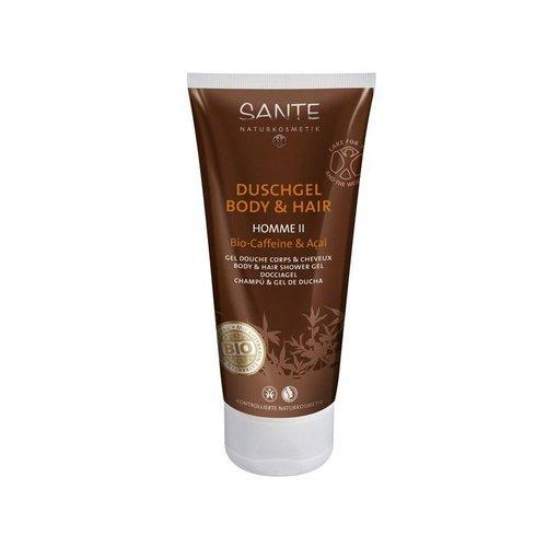 Gel Bad und Shampoo für Herren Kaffee 200ml Sante