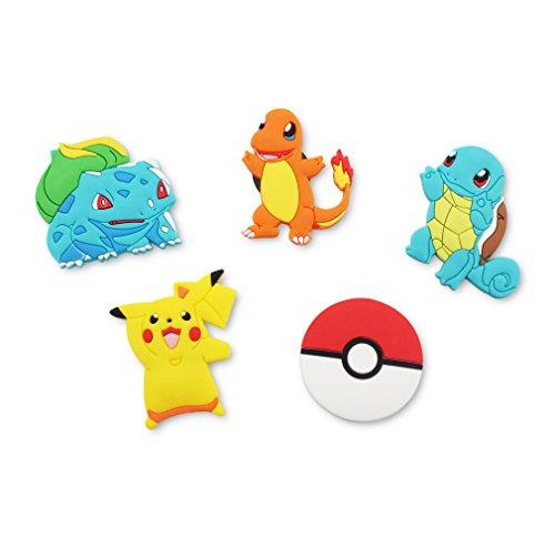 Finex Kühlschrankmagnete mit Cartoon-Figuren, 4 Stück, Regenbogen (Pokemon)