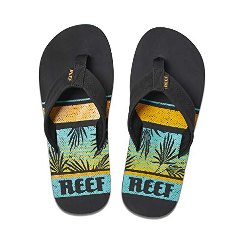 Reef Waters, Chanclas Hombre, Negro Black Palms Kpl